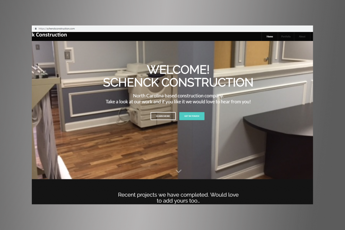 schenck construction website